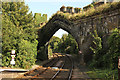 SH7877 : Railway arch through Conwy Town Walls by Richard Croft