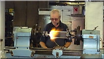 NZ4057 : Master glass blower at work at the National Glass Centre, Sunderland by Jeremy Bolwell