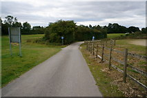 SE4248 : Bridleway  at Wetherby Racecourse by Ian S
