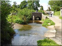 ST1004 : Ford and bridge on River Tale, Broadhembury by David Smith