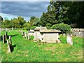 SP2005 : Group of tombs, Church of St Michael and St Martin, Eastleach, Gloucestershire by Brian Robert Marshall