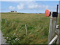 NL9842 : Balemartine: the post office from along its drive by Chris Downer