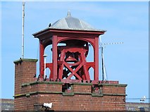 NZ3671 : Bell tower on the RNLI Lifeboat Station, Cullercoats Bay by Mike Quinn