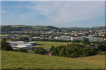 SN5981 : South from the National Library of Wales by Ian Capper