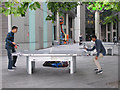 TQ3380 : Table tennis at More London by Stephen Craven