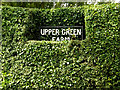 TM2989 : Upper Green Farm sign by Adrian Cable