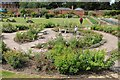SO8844 : Rose garden, walled garden, Croome by Philip Halling
