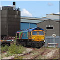 ST2075 : Locomotive at Celsa steelworks by Gareth James