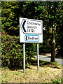 TM0734 : Roadsign on Hadleigh Road by Adrian Cable