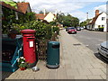 TM0634 : The Street & East Bergholt Post Office Postbox by Adrian Cable