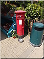 TM0634 : East Bergholt Post Office Postbox by Adrian Cable