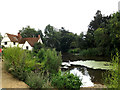 TM0733 : Willy Lott's House & Mill Pond at Flatford Mill by Adrian Cable