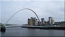 NZ2563 : The Gateshead Millennium Bridge over the River Tyne in Newcastle by Jeremy Bolwell