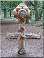 TM4766 : Wood sculpture, RSPB Minsmere by Roger Jones