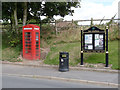 SK7373 : Telephone kiosk and notice board, East Markham by Alan Murray-Rust