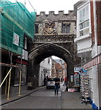 SU1429 : North side of North Gate, Salisbury by Jaggery