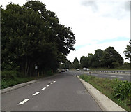 TM0534 : Layby on the A12 Ipswich Road by Adrian Cable