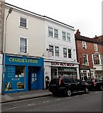 SU1429 : Charlie's Store and South Wilts Mencap in Salisbury by Jaggery