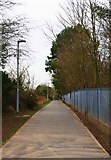 SO8453 : Footpath from the riverside to Bromwich Road, Worcester by P L Chadwick