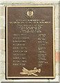 TG2812 : Memorial plaque to the Coffey Crew by Evelyn Simak