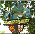 TG2812 : Rackheath village sign by Evelyn Simak