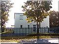 TG2813 : The former Watch office at RAF Rackheath by Evelyn Simak