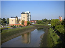 TM1543 : River Gipping from Station Bridge by Richard Vince