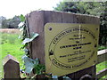 SJ5045 : Countryside Stewardship Scheme sign at Bradley Green by Jeff Buck