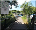 ST0381 : This platform for trains to Cardiff, Pontyclun railway station by Jaggery