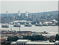 TQ4179 : Thames Barrier as seen from the Emirates Cable Car, London E1 by Christine Matthews