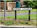 TM0434 : Upper Street sign by Adrian Cable