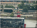 TQ3980 : Lightship, Trinity Buoy Wharf, London, as seen from the Viewing Platform, O2 Arena, Greenwich by Christine Matthews