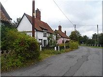 TM4077 : Cottages, Holton by Bikeboy