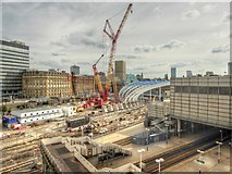 SJ8499 : Manchester Victoria Station Redevelopment Site (August 2014) by David Dixon
