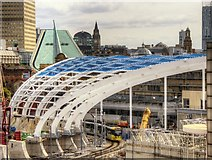 SJ8499 : New Roof Construction, Manchester Victoria Station by David Dixon