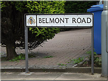TM1342 : Belmont Road sign by Adrian Cable