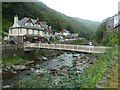 SS7249 : Footbridge over the East Lyn River, Lynmouth by Rob Farrow