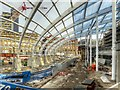 SJ8499 : New Roof Under Construction at Victoria Station by David Dixon