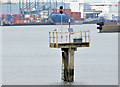 J3576 : Foul ground beacon, Belfast harbour (September 2014) by Albert Bridge