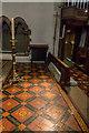 TQ2993 : Tiled Floor, Christchurch, Southgate, London N14 by Christine Matthews