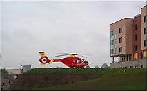 SJ8545 : Midlands Air Ambulance at the University Hospital of North Staffordshire by Jonathan Hutchins