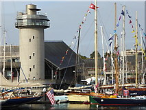 SW8132 : The tower of the National Maritime Museum Cornwall by Rod Allday