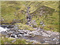 NN9194 : Stream junction on Caochan Dubh in the Eidart system, Glenfeshie by ian shiell