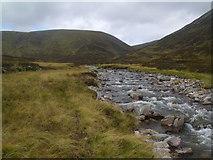 NN9193 : River Eidart above waterfall by ian shiell