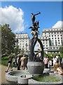 TQ2980 : Diana Drinking fountain & Sculpture by Paul Gillett