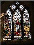 TF1392 : Stained glass window, All saints, Walesby by Christopher Hall