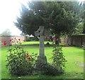 SE5737 : Memorial garden, Church End #1 by Mike Kirby