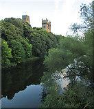 NZ2742 : Durham: view from Framwellgate Bridge by John Sutton