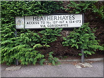 TM1543 : Heatherhayes sign by Hamish Griffin
