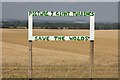 SE9951 : Windfarm protest, East Yorkshire by Paul Harrop